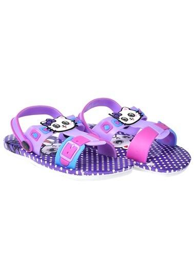 Kiko Kids Kiko Akn E240.008 Plaj Havuz Kız Çocuk Sandalet Terlik Mor